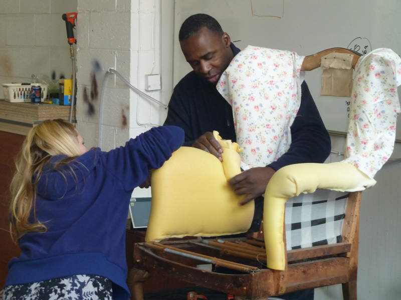 Upholstery classes for beginners morning for Furniture upholstery course