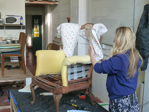 Advanced upholstery course evening classes for Furniture making courses